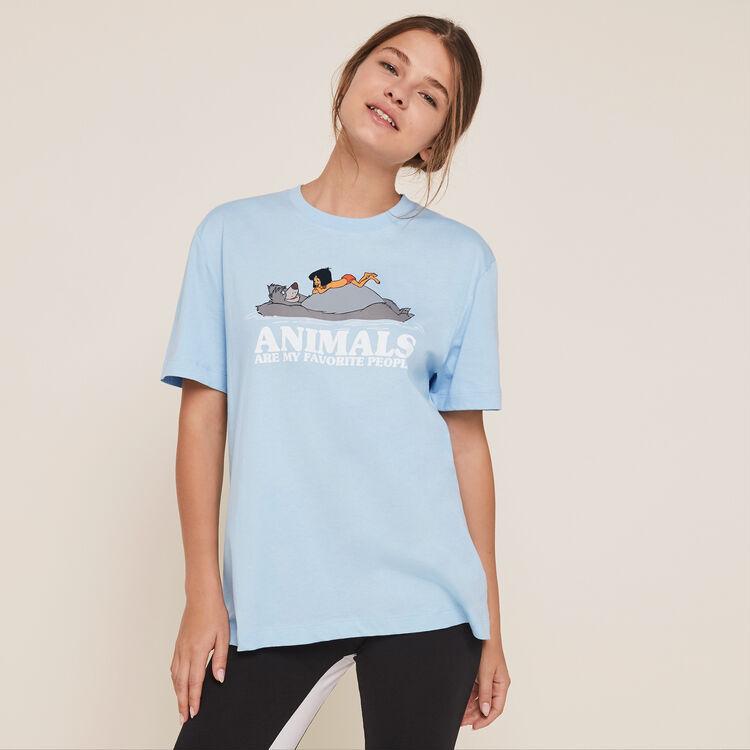 Top à manches courtes print animaux loveanimaliz;