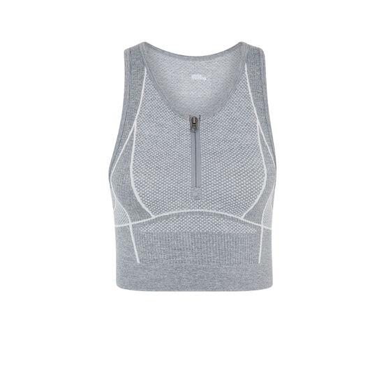 Crop top gris workouriz;