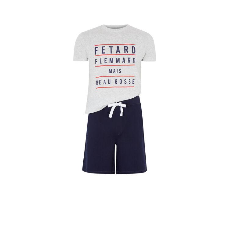 Set de pijama con mensaje fletardiz;