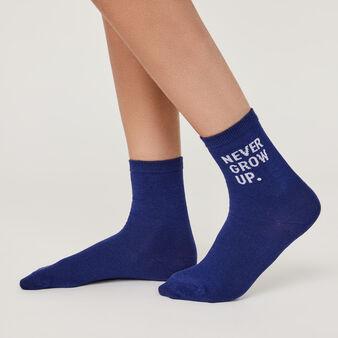 Calcetines azules nevergrowiz blue.