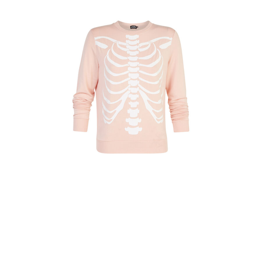 Sudadera rosa claro skeletoniz;${refinementColor}