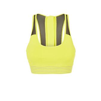 Sujetador amarillo fluorescente strongoiz yellow.