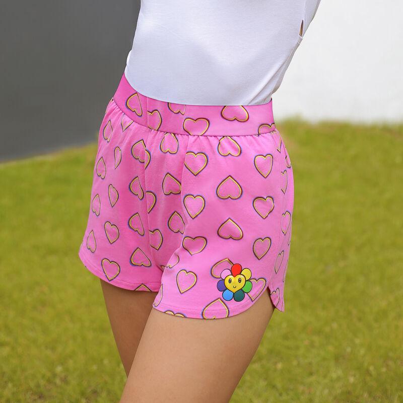Pantalón corto con estampado - rosa;