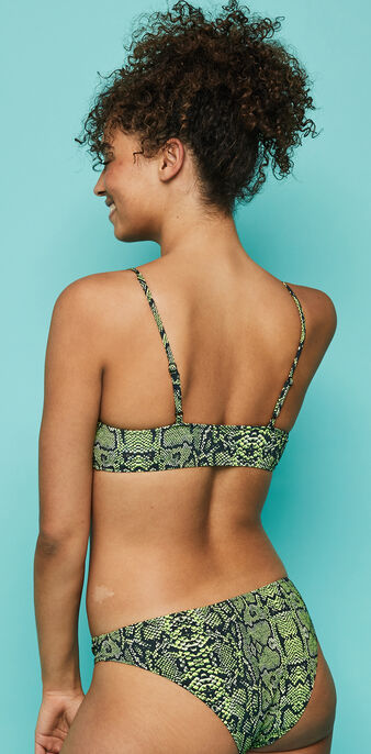 Top de bikini de estampado animal swimsnakiz green.