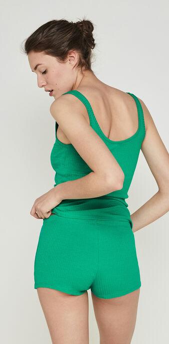Shorts en verde esmeralda newdebidiz green.