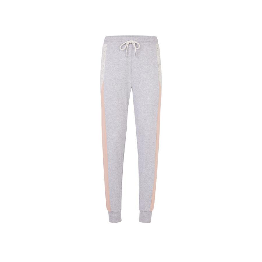 Pantalón gris claro pincheriz;