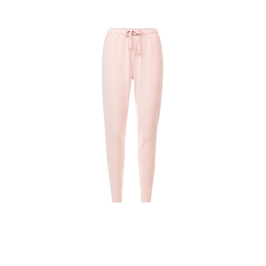 Pantalón deportivo rosa claro largecrochiz;