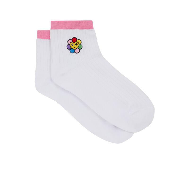 Calcetines con estampado - blanco;